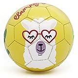 PP PICADOR Fußball mit Ballpumpe, Kinderfußball Größe 1 3 für Kleinkind Jungen Mädchen, Geschenke Spielzeug Ball für Indoor Outdoor Training(Gelbes Alpaka, Größe 1)