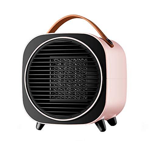Mini Portable Temporizador Calefactor Eléctrico,Sobrecalentamiento Protegido Cerámica Vertical Calefactor Eléctrico Para Casa Oficina-Rosa 20x19x22cm