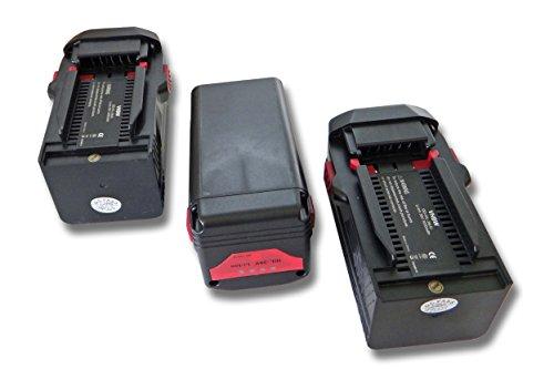 vhbw Akku 3xpassend für Hilti VC 20-UL-Y, VC 20-UM-Y, VC 40-UL-Y, VC 40-UM-Y, RC 4/36-DAB Werkzeuge (3000mAh, 36V, Li-Ion)