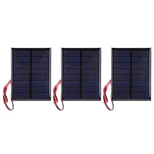 Panel Solar, 3 Paneles Solares DC4V 150mA, Módulo de Energía Celular, Panel Solar de Silicio Policristalino con Cable de 30 cm, para Investigar la Energía Solar para Uso Experimental