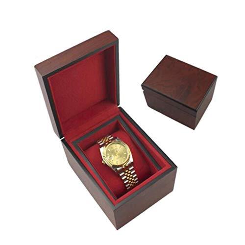 IREANJ Caja de Relojes de Caja de Madera del Reloj, de Almacenamiento Caso del tirón de la Laca de Madera, Reloj y eliminación de Almacenamiento Almohadas Caja de Regalo