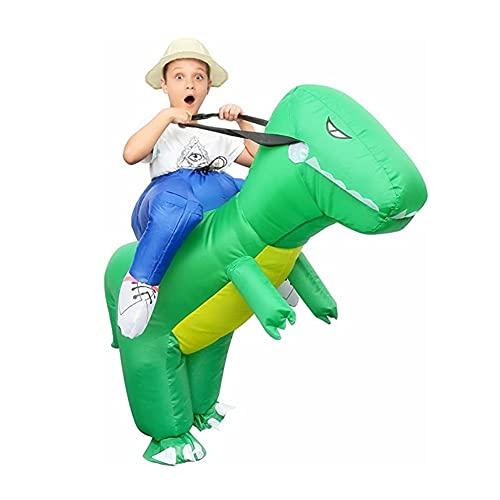 Echden GXZOCK Aufblasbares Kostüm Carry-me Huckepack Dinosaurier Cosplay für Kind Karneval Party Fasching Karneval Geburtstags-Geschenk (Kind)