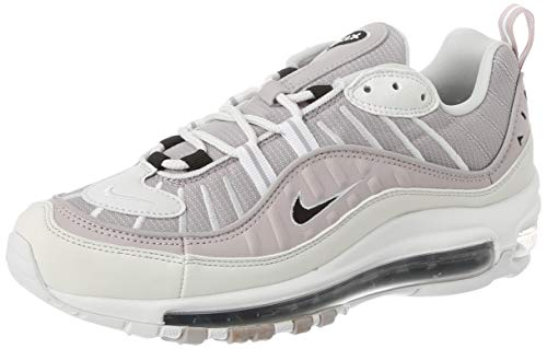 Nike W Air MAX 98, Zapatillas para Correr Mujer, Silver Lilac Black Platinum Violet Platinum Tint White, 38.5 EU
