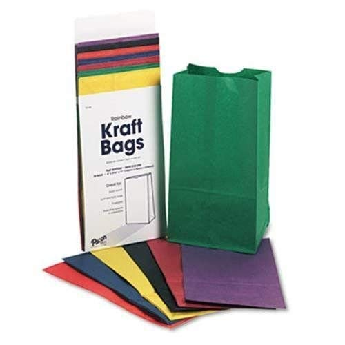 """Rainbow Bags, 6"""" x 3 5/8"""" x 11"""", Pack of 28"""