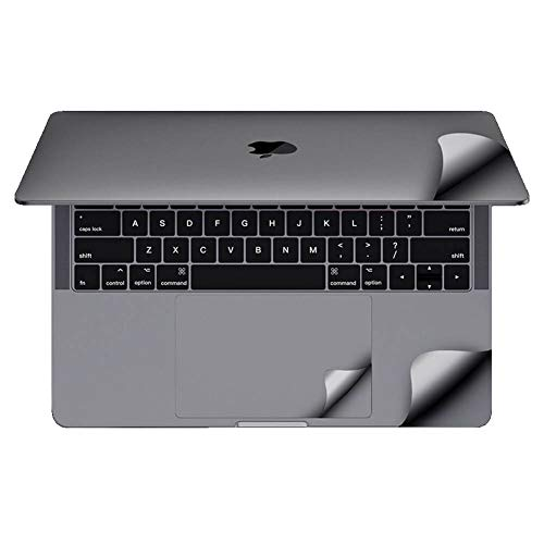 For MacBook Protective-Skin Decals-Stickers Case Screen-Protector EU UK Keyboard-Cover 6in1 3M Full Body Vinyl Invisible Stealth Armor (MacBook Pro 16 inch A2141 (2020-2019), Space Grey)
