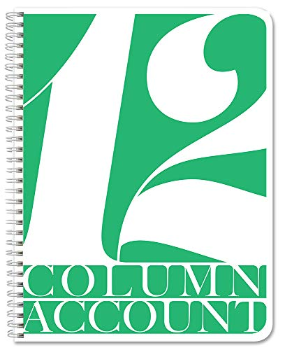 BookFactory 12 Column Account Book/Ledger Book/Accounting Ledger/Notebook (12 Columnar Book Format) - 100 Pages, 8.5' x 11', LOG-100-7CW-PP-(Accounting-12)-AX)