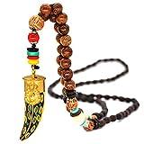 Collana di yoga in legno naturale tibetano Lilloubella Mala Monaco Monaco buddista Meditazione Creazione fatta a mano Collana di protezione spirituale per donne e uomini