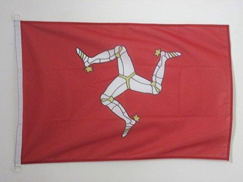 AZ FLAG Bandera de la Isla DE Man 90x60cm Uso Exterior - Bandera MANÉS 60 x 90 cm Anillos