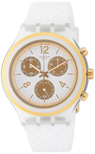Swatch Damen Chronograph Quarz Uhr mit Silikon Armband SVCK1008