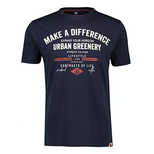 LERROS Herren Frontprint T-Shirt, Navy, XL