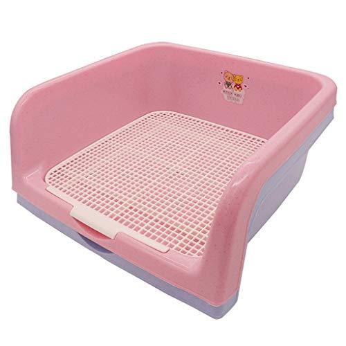 LTM Pet carrier LT Hundeplastiktrainings-Toiletten-Haustier-Abfallbehälter mit Zaun-PIPI-Auflage for Innenaußen