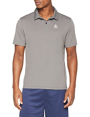 Odlo Herren s/s CARDADA Poloshirt, Steel Grey, XL