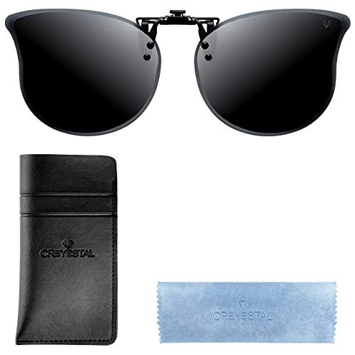CREYESTAL Clip Gafas de Sol Polarizadas, Clip para Gafas para Sol, Clip...
