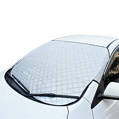 ZY-opritten KangJZ Multifunctionele Zonneblok, 148 * 100CM Ophangen Buiten Sneeuwbescherming Zonnebrandcrème Warmte-isolerende Zonneklep Auto Zilver Zonnescherm praktisch