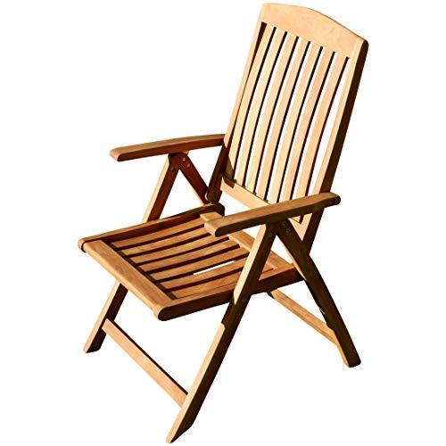 AS-S ASS Teak Design Hochlehner Gartensessel Gartenstuhl Sessel Holzsessel Klappsessel Gartenmöbel Holz sehr robust Modell: JAV-Tobago von