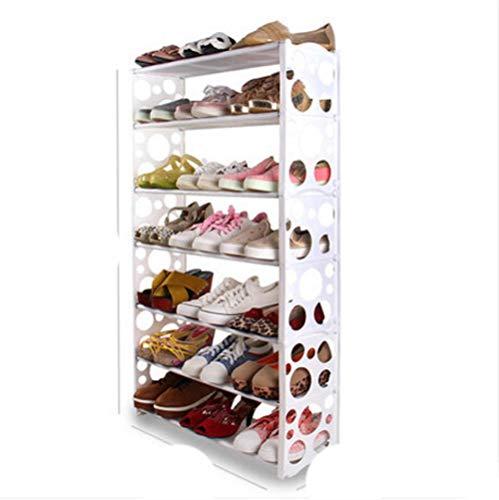 Simple multi-capas estrella combinación zapatos estante breve zapato estante de almacenamiento moderno zapato estante-7 capa burbuja blanca