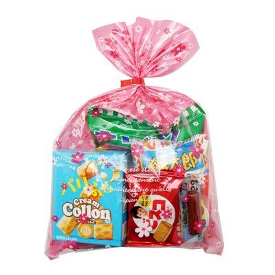 花柄袋 198円 お菓子 詰め合わせ (Aセット) 駄菓子 袋詰め おかしのマーチ