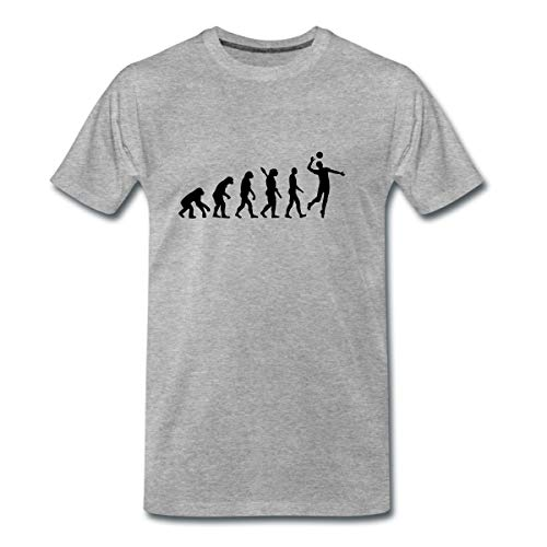 Evolution Volleyball Spieler Männer Premium T-Shirt, M, Grau meliert