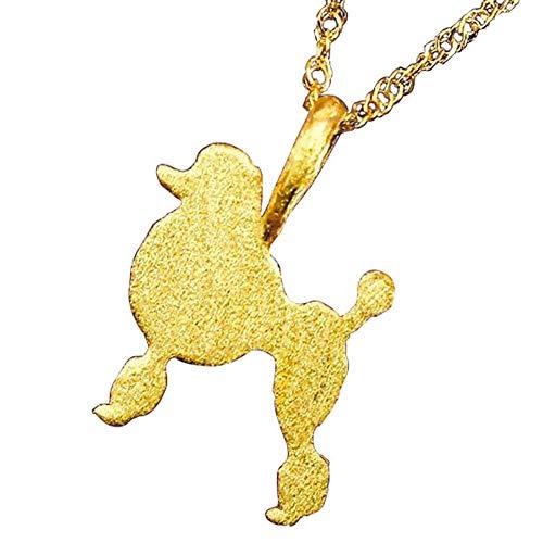 [アトラス] Atrus ネックレス レディース 純金 24金 犬 24K スタンダードプードル いぬ 犬モチーフ ペンダント チェーン(sv925イエローメッキ)