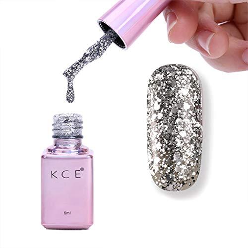 Vkospy 6 ml Glitter UV Gel Polish Farbige Gel-Nägel UV-LED-Lampe Nail Polish Long Lasting