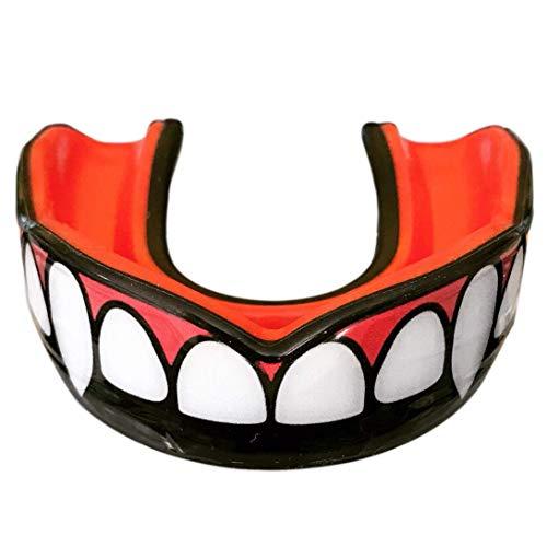 Oral Mart Vampiro colmillo Protector bucal con Estuche ventilado para Karate, Boxeo, Combate, Taekwondo