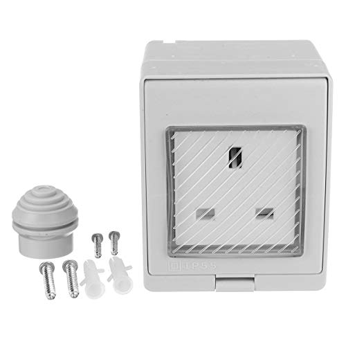 Interruptores de 13 A, resistente a la intemperie, enchufe de ABS para Reino Unido, clasificación IP55, enchufe impermeable