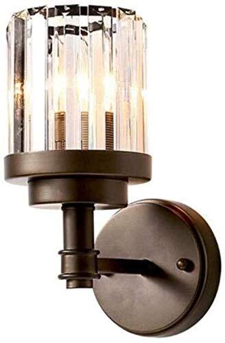 Sconce Wandlamp Crystal Wandlamp Creatieve Persoonlijkheid Led Dimbaar Kristal Glas Lampenkap Ferro Metaal Lichaam, Zwart, A Binnen Verlichting Wandlampen