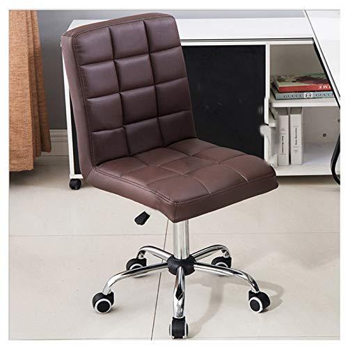 UKBK Silla de oficina con ruedas, silla giratoria de altura ajustable, sofá suave para escritorio de computadora, silla de trabajo elevable, para el hogar, oficina o salón (marrón)