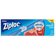 Ziploc Slider Freezer Bags with New Power Shield Technology, Gallon, 24 Count