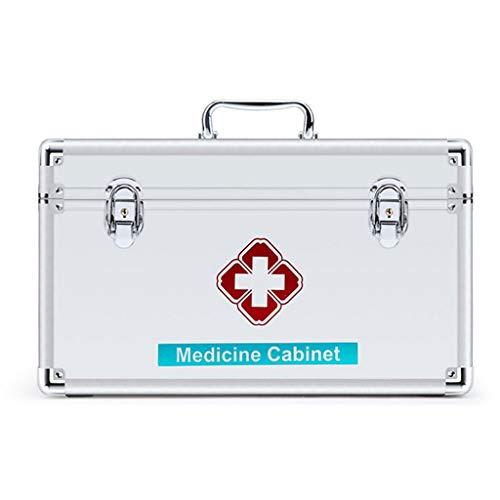 LICCC Botiquín de Primeros Gabinete de Primeros Auxilios en el Pecho, de Gran Capacidad de Home Box médica de Emergencia, Multi-Capa de Primeros Auxilios Caja de Almacenamiento (Size : L)