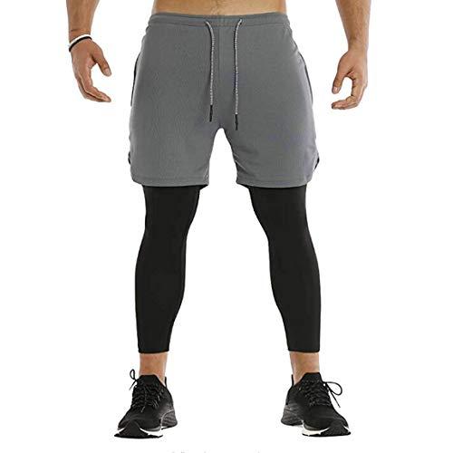 DODOYA - Running-Shorts für Herren in Grau, Größe M