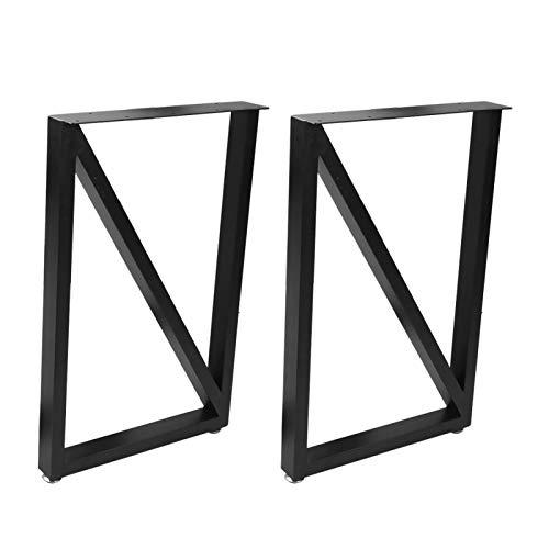 Un conjunto de 2 patas rectangulares con cuatro patas ajustables, aptas para mesas bajas, mesas auxiliares, oficinas, tamaño: 71 x 45 cm.