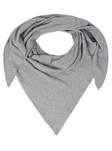 Zwillingsherz Dreieckstuch mit Kaschmir - Hochwertiger Schal im Uni Design für Damen Jungen und Mädchen - XXL Hals-Tuch und Damenschal - Strick-Waren für Sommer und Winter - 150cm x 120cm - hgr