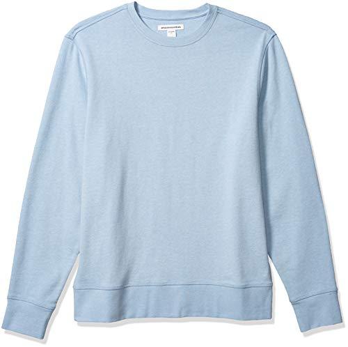 Amazon Essentials Men's Long-Sleeve Lightweight French Terry Crewneck Sweatshirt, Light Blue, X-Large