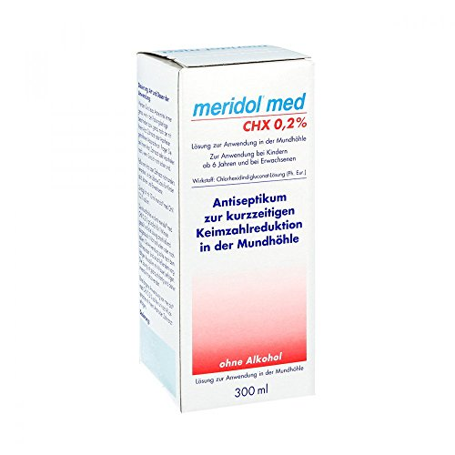 Meridol med CHX 0,2{7e5bee73052a0e039938a977fa9f218af49ebf148fd59625c92503d431dbcc07} Sp�lung, 300 ml