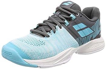 Babolat Women s Propulse Blast All Court Tennis Shoes Grey/Blue Radiance  6.5 US