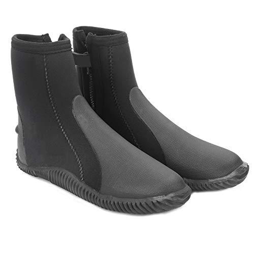Dilwe Zapato de Buceo, 5 mm Zapato de Buceo de Neopreno Unisex Manténgase abrigado Bota de esnórquel de natación Antideslizante Negro