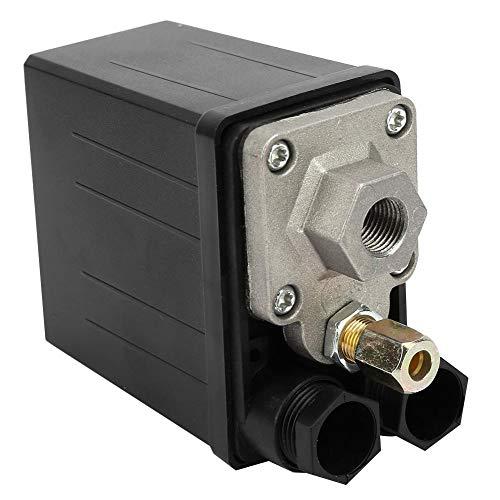 220V 0.4 ~ 0.7Mpa Compresseur d'air Pressostat Vanne de contrôle commutateur automatique pièces de rechange de valve de contrôle de commutateur de pression pour le compresseur d'air de trou simple