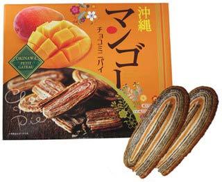 沖縄マンゴー チョコミニパイ 14個入り×2箱 クローバーおきなわ 沖縄マンゴーを使用 南国の甘い香りとサクサクのパイ 沖縄土産