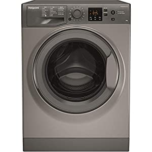 Hotpoint NSWM843CGGUK 8Kg Washing Machine with 1400 rpm – Graphite – A+++ Rated