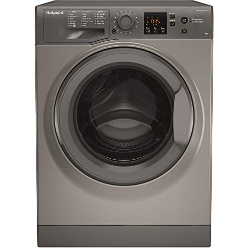 Hotpoint NSWM843CGGUK 8Kg Washing Machine with 1400 rpm -...