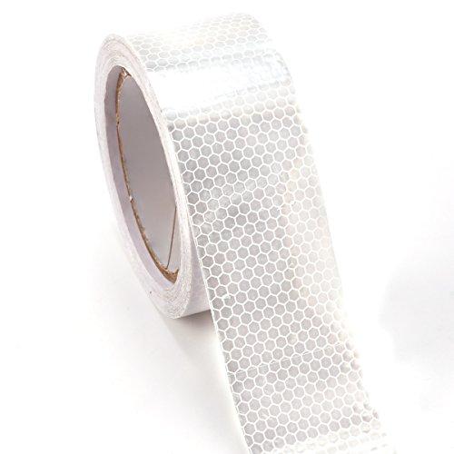 10m x 5cm ruban autocollant bande réfléchissant lumière blanc