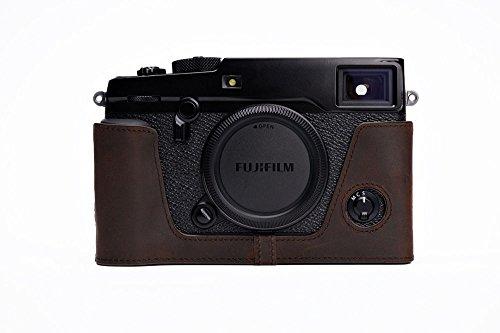 FUJIFILM 富士フイルム X-PRO2 用本革カメラケース (電池,SDカード交換可) 各種カラー (カメラケース, ダークブラウン)