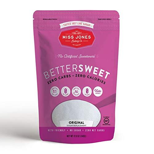 Miss Jones Baking Jones BetterSweet MonkFruit & Erythritol Sweetener, White Granular
