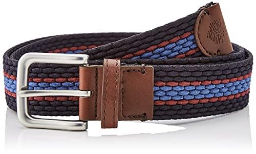 Springfield Cinturón Trenzado Multicolor, Azul Oscuro, 95 para Hombre