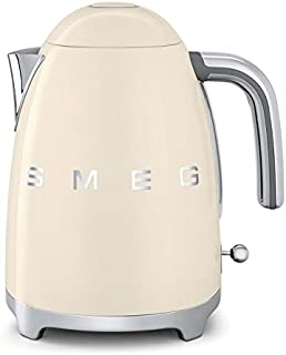 Smeg KLF01CRUS 50's Retro Style Aesthetic Electric Kettle, Cream
