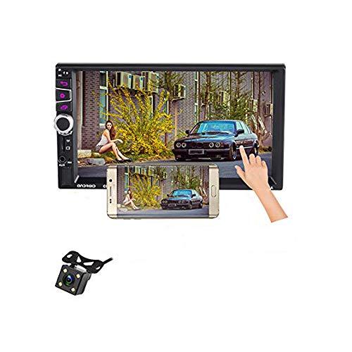 LUOAN AUTO PARTS Sistema 2 DIN Android 4LED 16g Memory Touch Screen Vivavoce Chiamata 7 Pollici HD Car Bluetooth Player Pulsante Autoradio Universale 7030CA