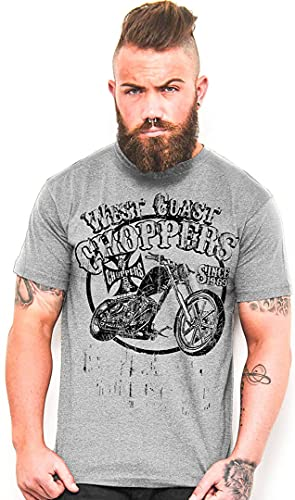 WEST COAST CHOPPERS Camiseta EL Diablo Vintage Blue gris XXXXL