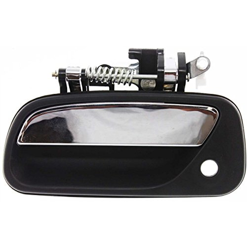 Aftermarket Auto Parts for T100 93-98 Blk w/Chrome Lever Front Outer Door Handle w/Keyhole Left