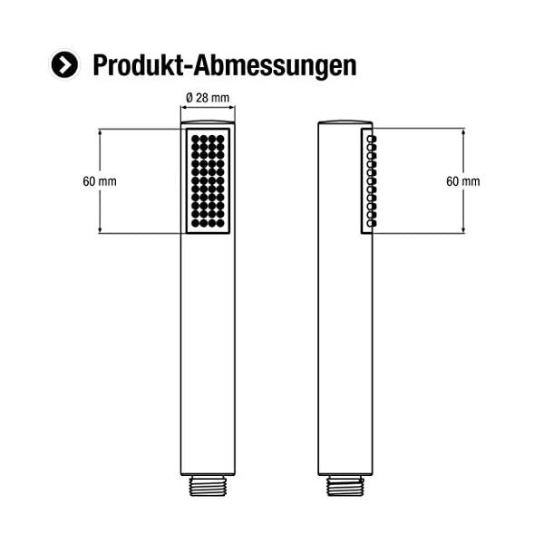 CON:P SA330990 Teléfono de ducha cilíndrico 1F